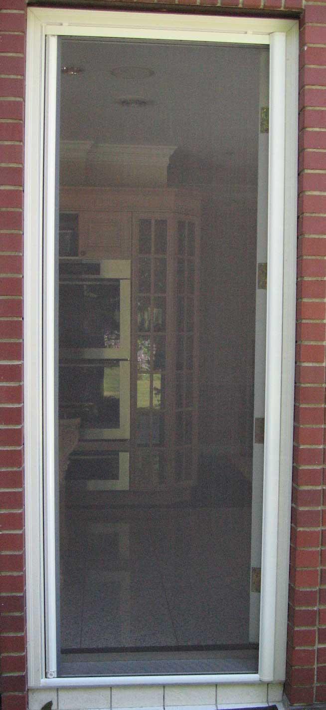 Omnifine retractable screen door and window vancouver for Back door with window and screen