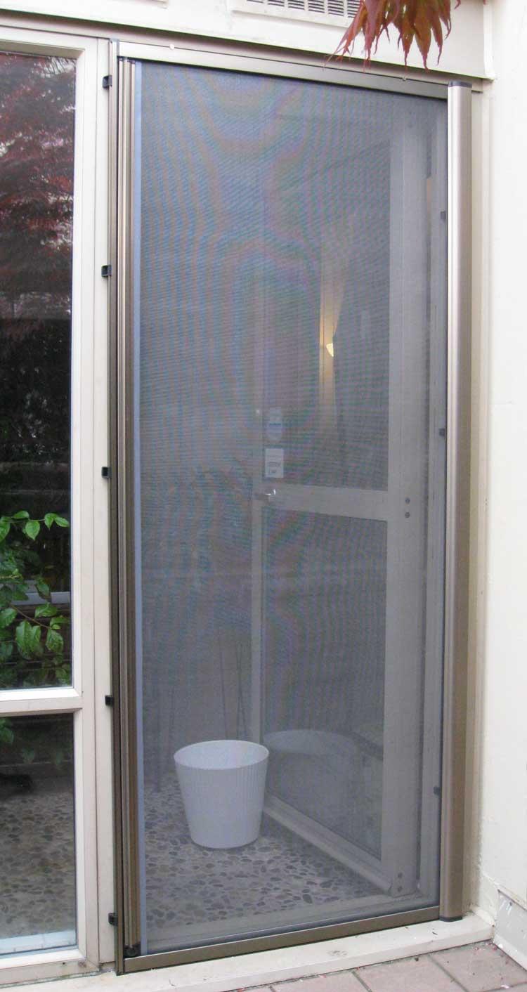Omnifine retractable screen door and window vancouver for Back door sliding door
