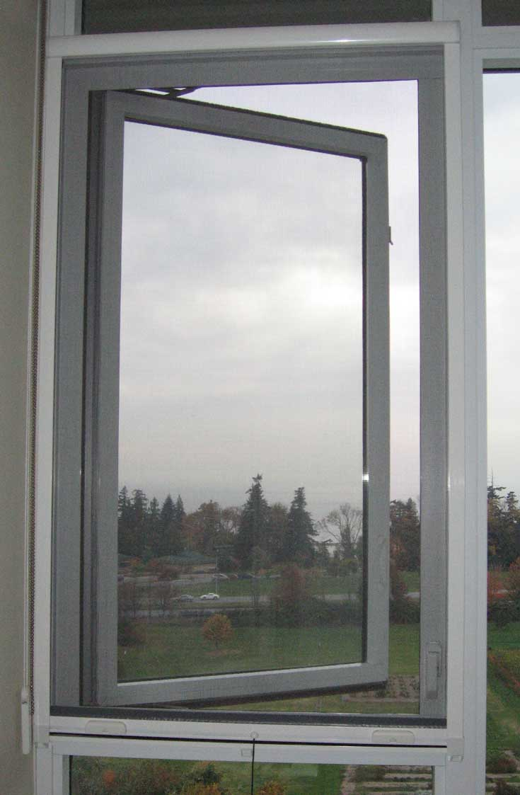 Omnifine retractable screen doors and windows vancouver for Windows with retractable screens